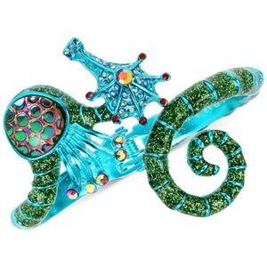 BETSEY JOHNSON Turquoise Seahorse Glitter Bracelet